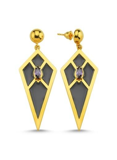 Reian Jewelry Audrey B Grey Küpe Altın
